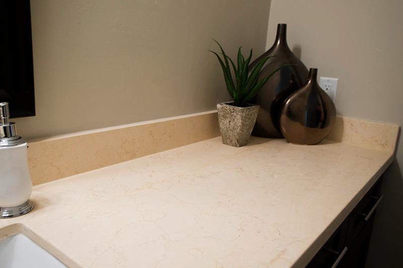 Beige Granite Bathroom counter top