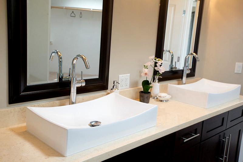 Beige Bathroom countertop