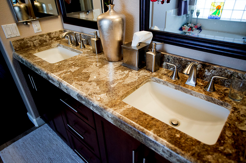 Top View Granite Bathroom Counter top