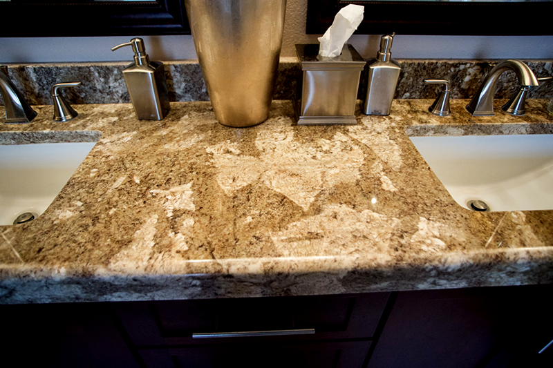 Close-up Granite Bathroom Counter top