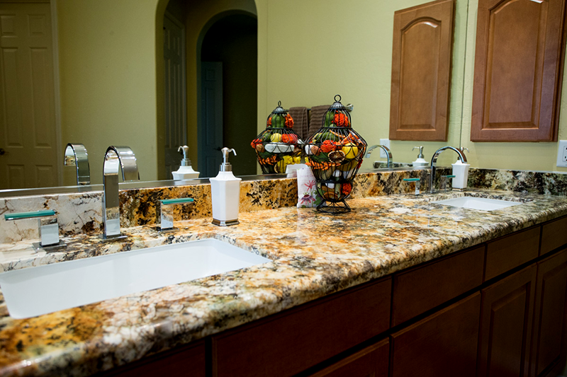 His and Hers Granite sinks and counter top installed in Scottsdale AZ