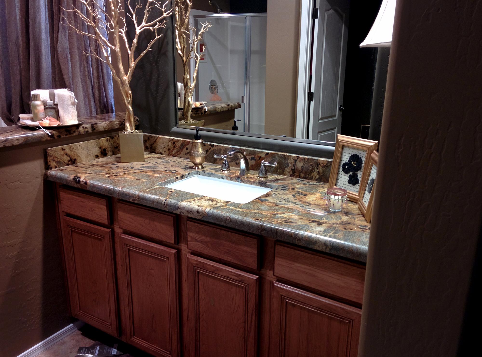 Granite Bathroom Phoenix Premier Countertop Installers Granite Dude