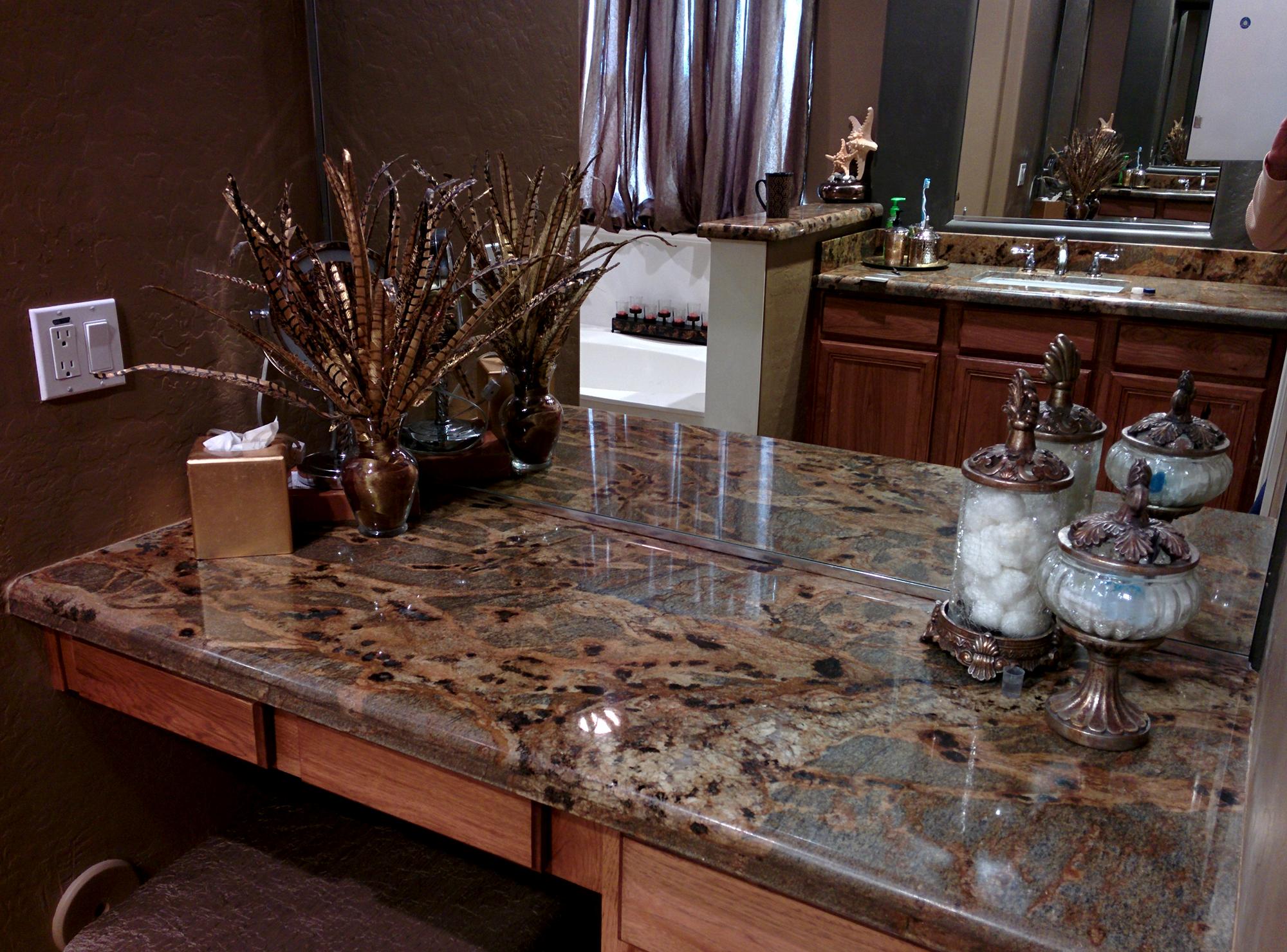 Dark Granite Bathroom countertop
