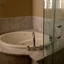 Granite Bathtub Backsplash