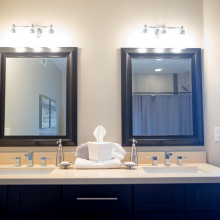 White Granite Bathroom Countertop