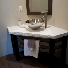 Rough Edge Granite Bathroom Countertop