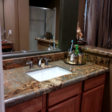 Dark Granite Bathroom countertop