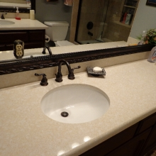 White Granite Bathroom Countertop