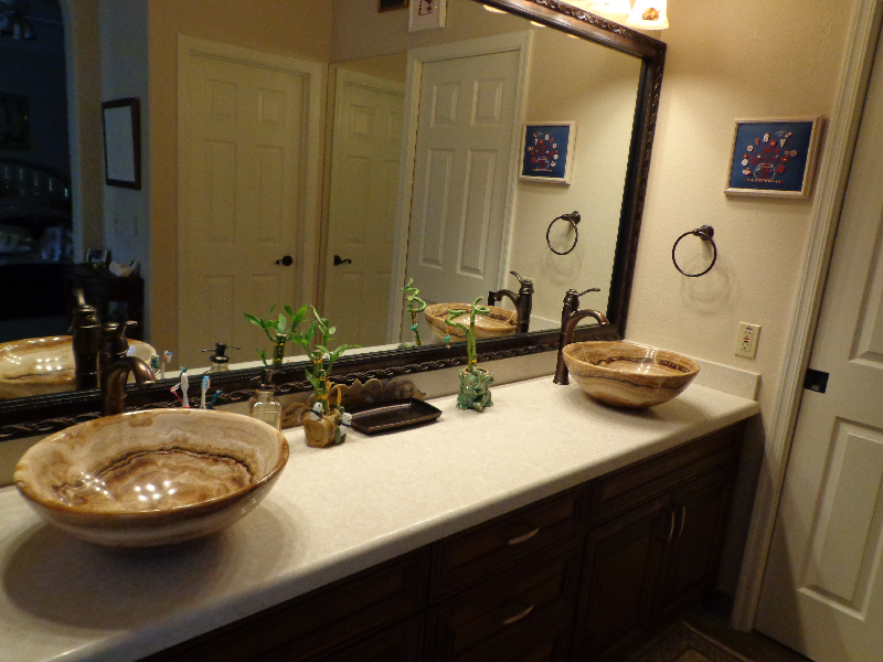 Granite Bathroom and Sink Installed in Scottsdale AZ Granite Angled  countertop