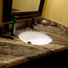Granite Angled countertop