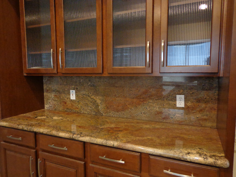 Granite cabinet top abstract