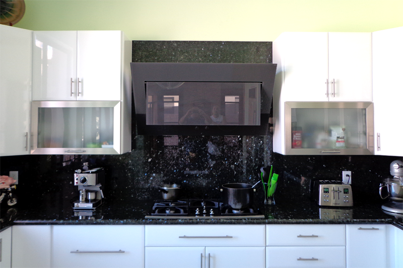 Granite counter top and back splash Impala Black