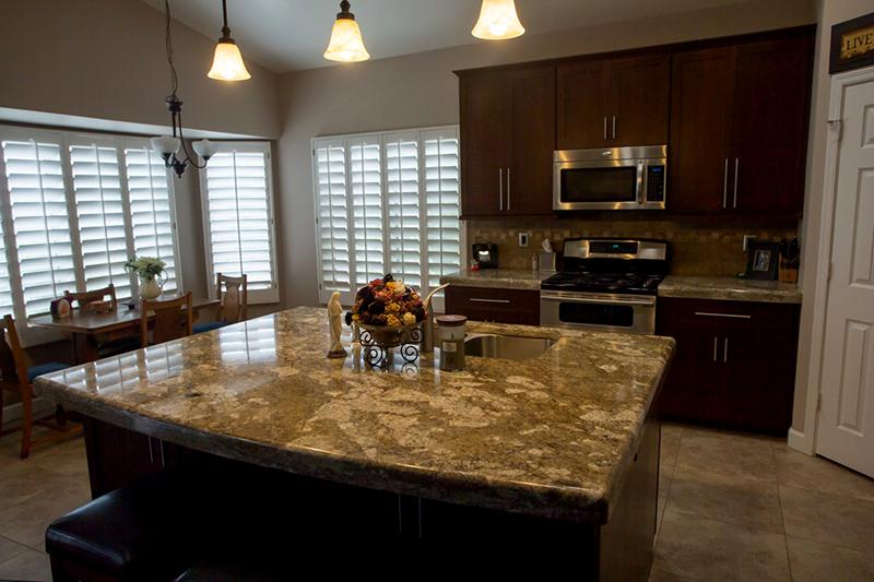 Kitchen countertops Phoenix AZ Caramel Brown island