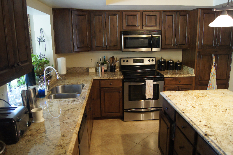 Granite counter top Yellow River kitchen center table