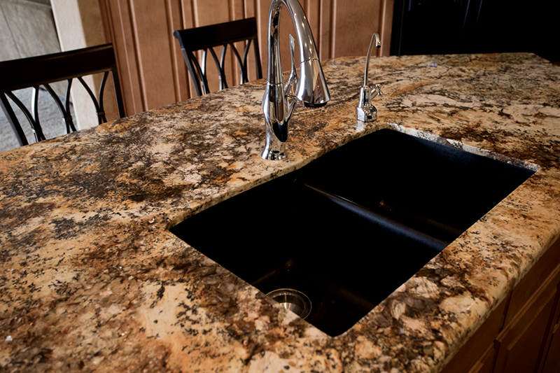 Arizona Granite Solarius Kitchen countertops Phoenix AZ center table kitchen sink