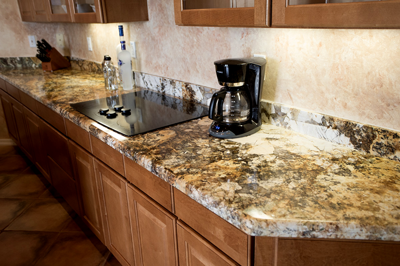 Arizona Granite Solarius kitchen countertop linear design