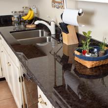 Granite installation Phoenix counter top Metallic Leathered