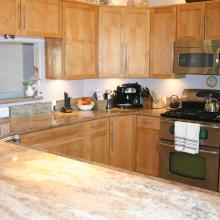 Granite counter top Multicolor onyx u shape kitchen layout