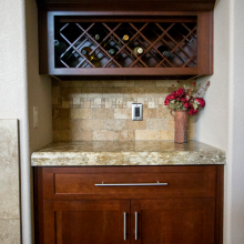 Kitchen countertops Phoenix AZ wine aclove