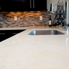 Arizona Granite Colonial Cream closer view on a modern design