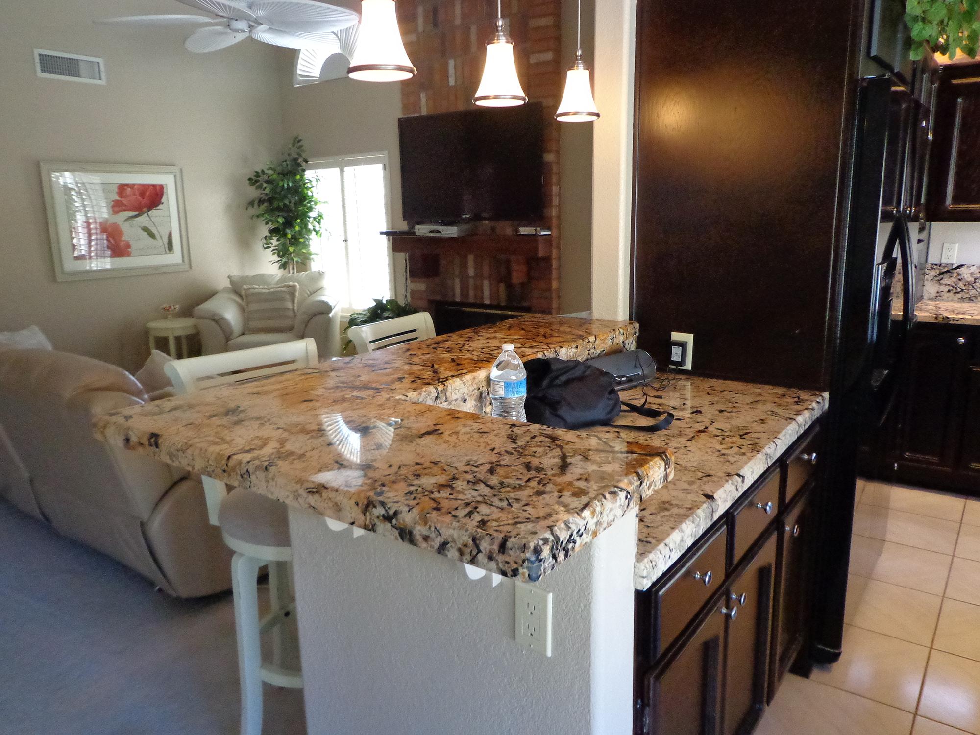 granite counter install