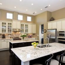 samples of granite countertops in kitchens